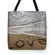 Love On The Beach Tote Bag
