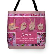 Love One Another Spanish Tote Bag