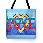 Love Peace Tote Bag