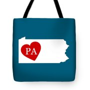 Love Pennsylvania White Tote Bag