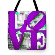 Love Philadelphia Purple Digital Art Tote Bag