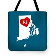 Love Rhode Island White Tote Bag