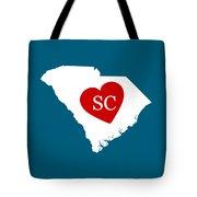 Love South Carolina White Tote Bag