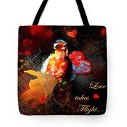Love Takes Flight Tote Bag