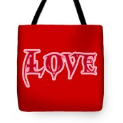 Love Text Tote Bag