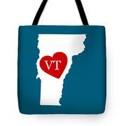 Love Vermont White Tote Bag