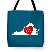 Love Virginia White Tote Bag