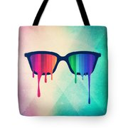 Love Wins Rainbow - Spectrum Pride Hipster Nerd Glasses Tote Bag