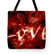 Love With Flowers Tote Bag
