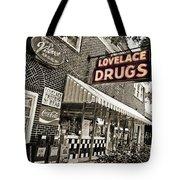 Lovelace Drugs Tote Bag by Scott Pellegrin