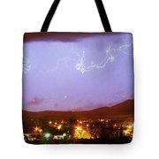 Loveland Colorado Front Range Foothills  Lightning Thunderstorm Tote Bag
