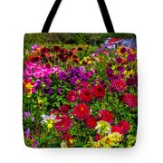 Lovely Dahlia Garden Tote Bag