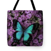 Lovely Green Winged Butterffly Tote Bag