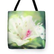 Lovely In White Tote Bag