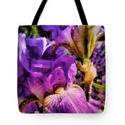 Lovely Iris Tote Bag