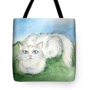 Lovely Kitty. White Cat Kusyaka Tote Bag