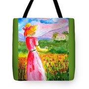 Lovely Lady Landscape Tote Bag