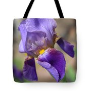 Lovely Leaning Iris Mother's Day Card Tote Bag
