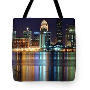 Lovely Louisville Lights Tote Bag