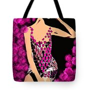 Lovely Luna Among The Roses C 1966 Tote Bag
