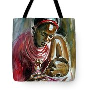 Lovely Masai Mother Tote Bag