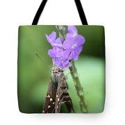 Lovely Moth On Dainty Flower Tote Bag