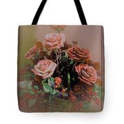 Lovely Rustic Rose Bouquet Tote Bag