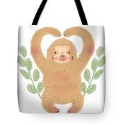 Lovely Sloth Illustration Tote Bag
