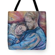 Lovers And Dragonflies Tote Bag