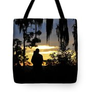 Lover's At Sunset Tote Bag