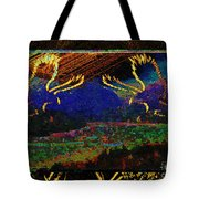Lovers Dancing In The Golden Light Of Dawn Tote Bag
