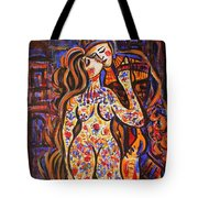 Lovers In The Moonlight Tote Bag