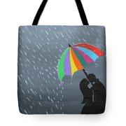 Lovers In The Rain Tote Bag