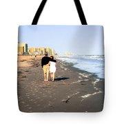Lovers On The Beach Tote Bag by Tom Zukauskas