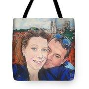 Lovers Selfie In York, England Tote Bag