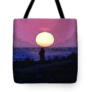Lovers Sunset Tote Bag