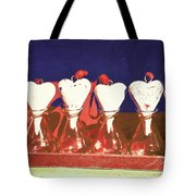 Loves On A Row Tote Bag