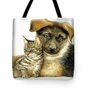 Loving Cat And Dog Tote Bag