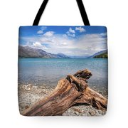 Low Angle View From The Rocky Dart River Bank At Kinloch, Nz Tote Bag