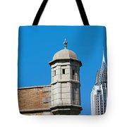 Low Angle View Of Buildings, Mobile Tote Bag