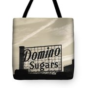Low Angle View Of Domino Sugar Sign Tote Bag