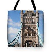 Low Angle View Of Tower Bridge, London Tote Bag