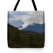 Low Clouds In Ute Pass Colorado Tote Bag