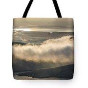 Low Hanging Clouds Tote Bag