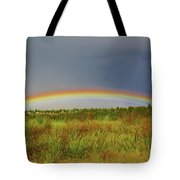 Low Lying Rainbow Tote Bag
