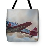 Low Pass Stunt Plane Tote Bag