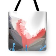 Low Poly Shark Tote Bag