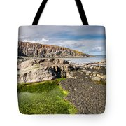 Low Tide At Cullernose Point Tote Bag