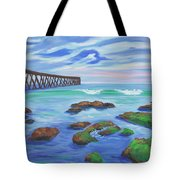 Low Tide At Haskell's Beach Tote Bag