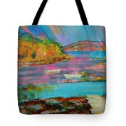 Low Tide At Salcombe In The South Hams Tote Bag